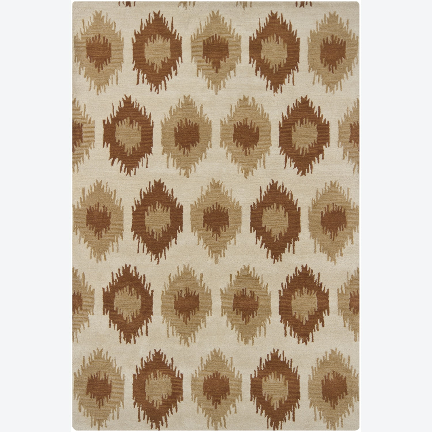 """Artist's Loom Hand-tufted Contemporary Abstract Wool Rug - 5' x 7'6"""""""