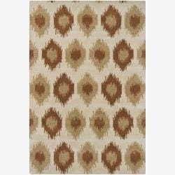 Artist's Loom Hand-tufted Contemporary Abstract Wool Rug (5'x7'6) - Thumbnail 0