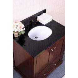 Granite Top 30 inch Single Sink Bathroom Vanity - Thumbnail 2
