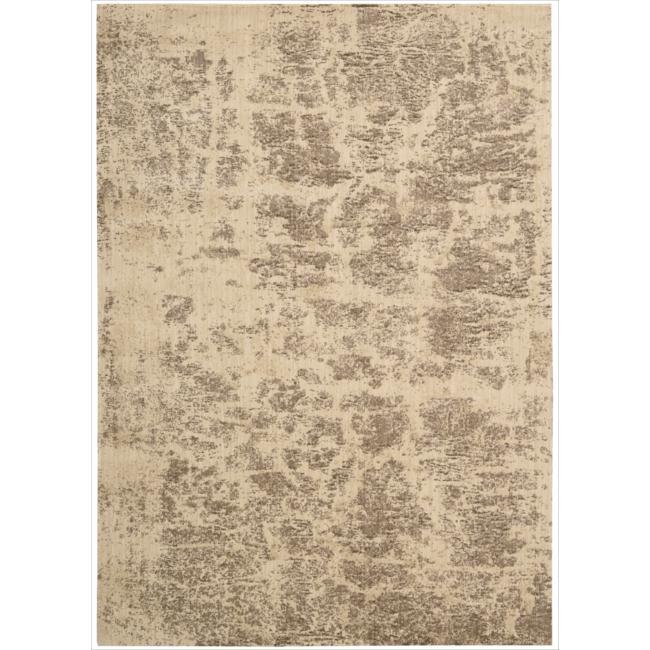 Nourison Home Metropolitan Abstract Beige Rug (7'9 x 10'10)