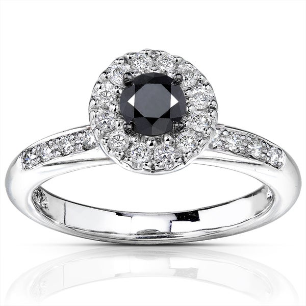 Annello by Kobelli 14k Gold 3/5ct TDW Black and White Diamond Ring (H-I, I1-I2)