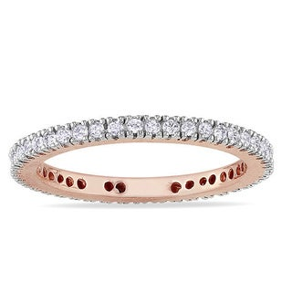 Miadora 10k Gold 1/3ct TDW Diamond Eternity Ring