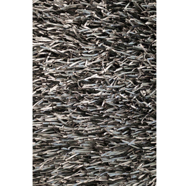 Tilton Hand-tufted Black/ Blue Shag Rug (5' x 7'6)