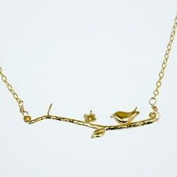 Bird Branch Gold 16-inch Necklace