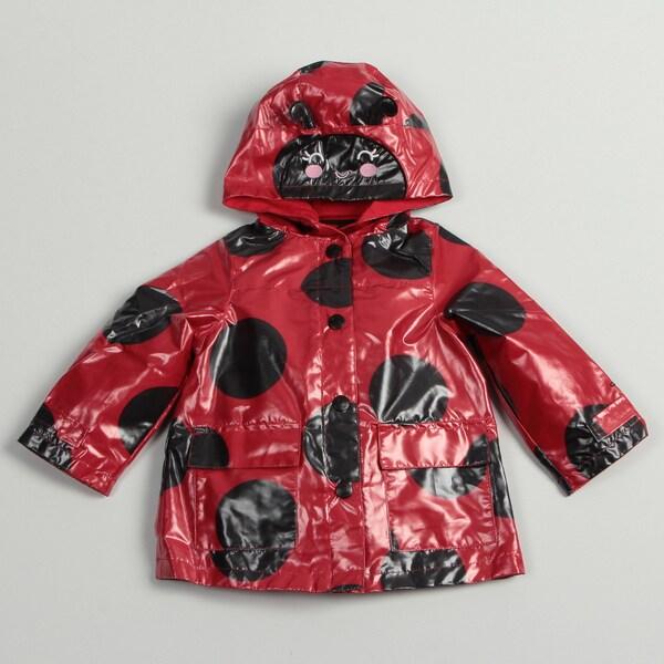 Carter's Toddler Girl's Dotted Ladybug Rain Coat