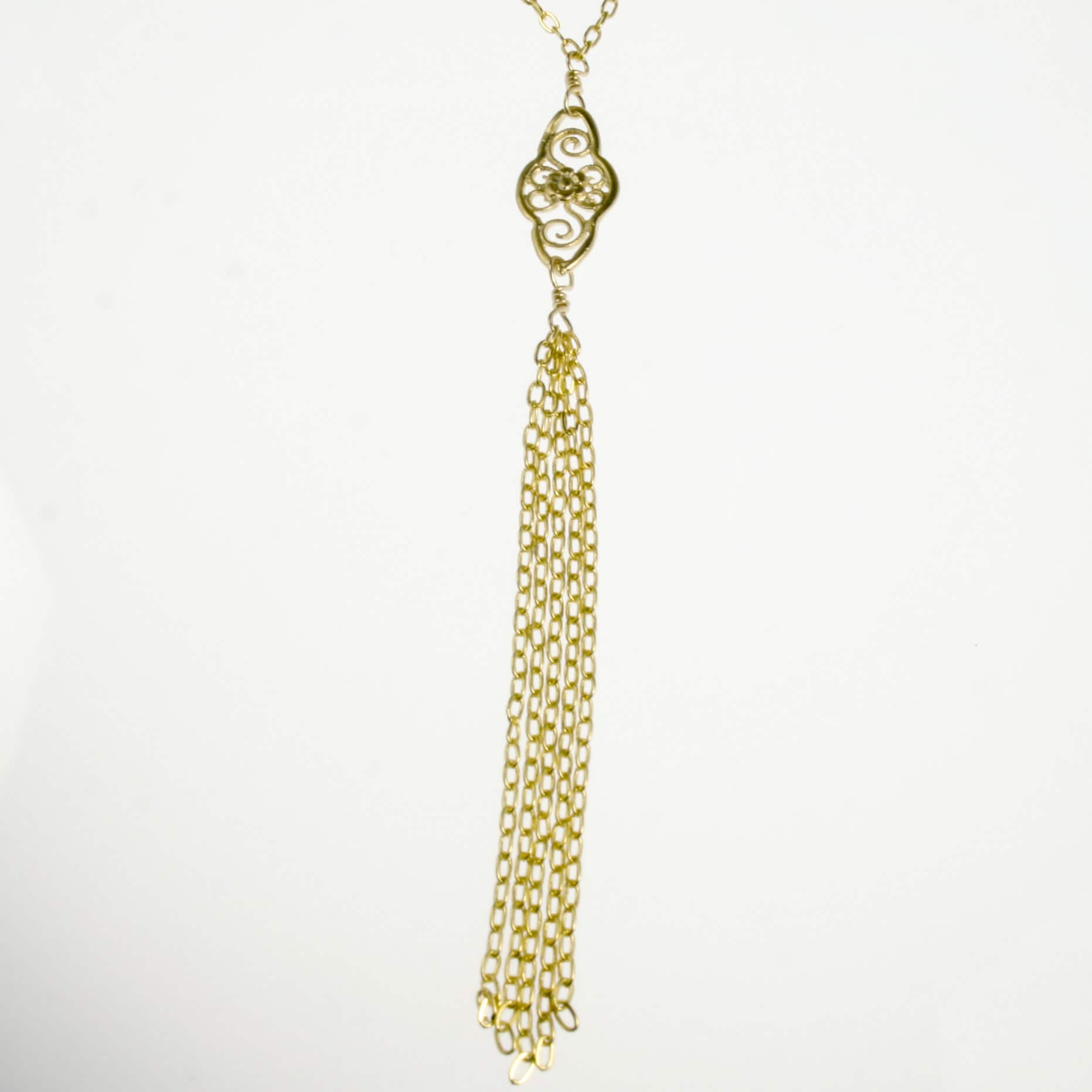 Filigree Tassel Necklace