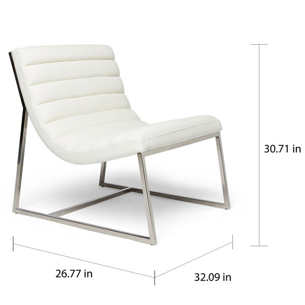Parisian White Leather Sofa Chair By Christopher Knight Home   Free  Shipping Today   Overstock.com   14263386