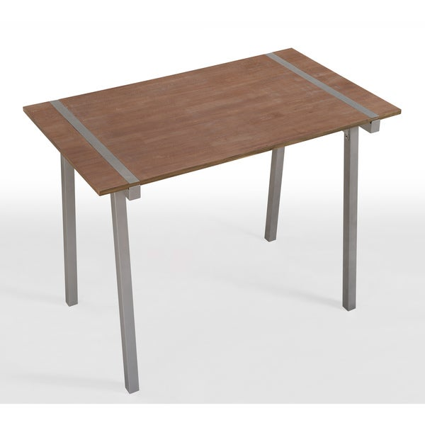 Tabouret Metal And Wood Table   Free Shipping Today   Overstock.com    14263391
