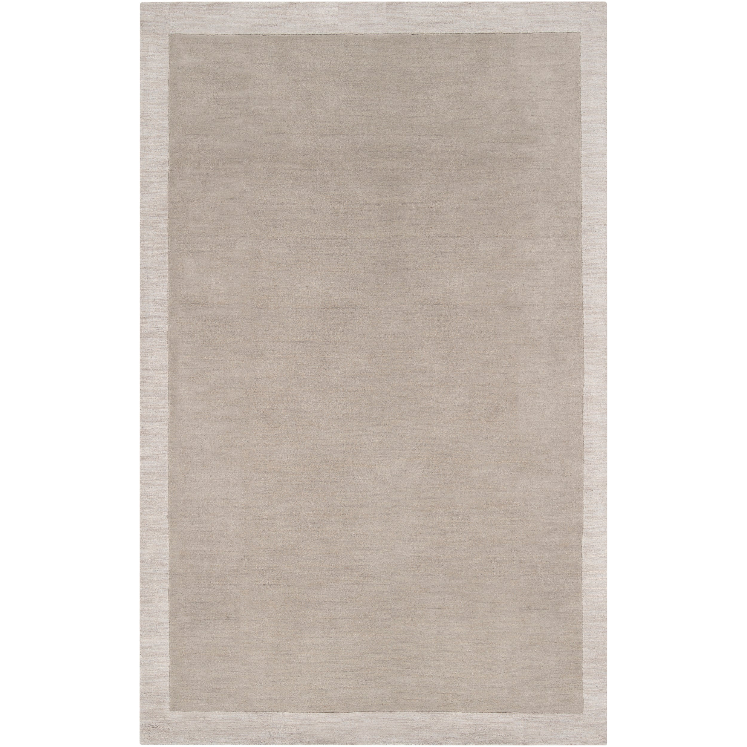 "Loomed Gray Madison Square Contemporary Wool Rug (5' x 7'6"")"