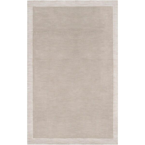 Hand-tufted Madison Square Grey Wool Area Rug - 8' x 10'