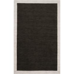 Loomed Black Madison Square Wool Rug (2' x 3')