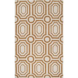 Hand-tufted Gold Hudson Park Polyester Rug (2' x 3')