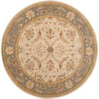 Hand-tufted Multicolored Clift New Zealand Wool Area Rug (8' Round)