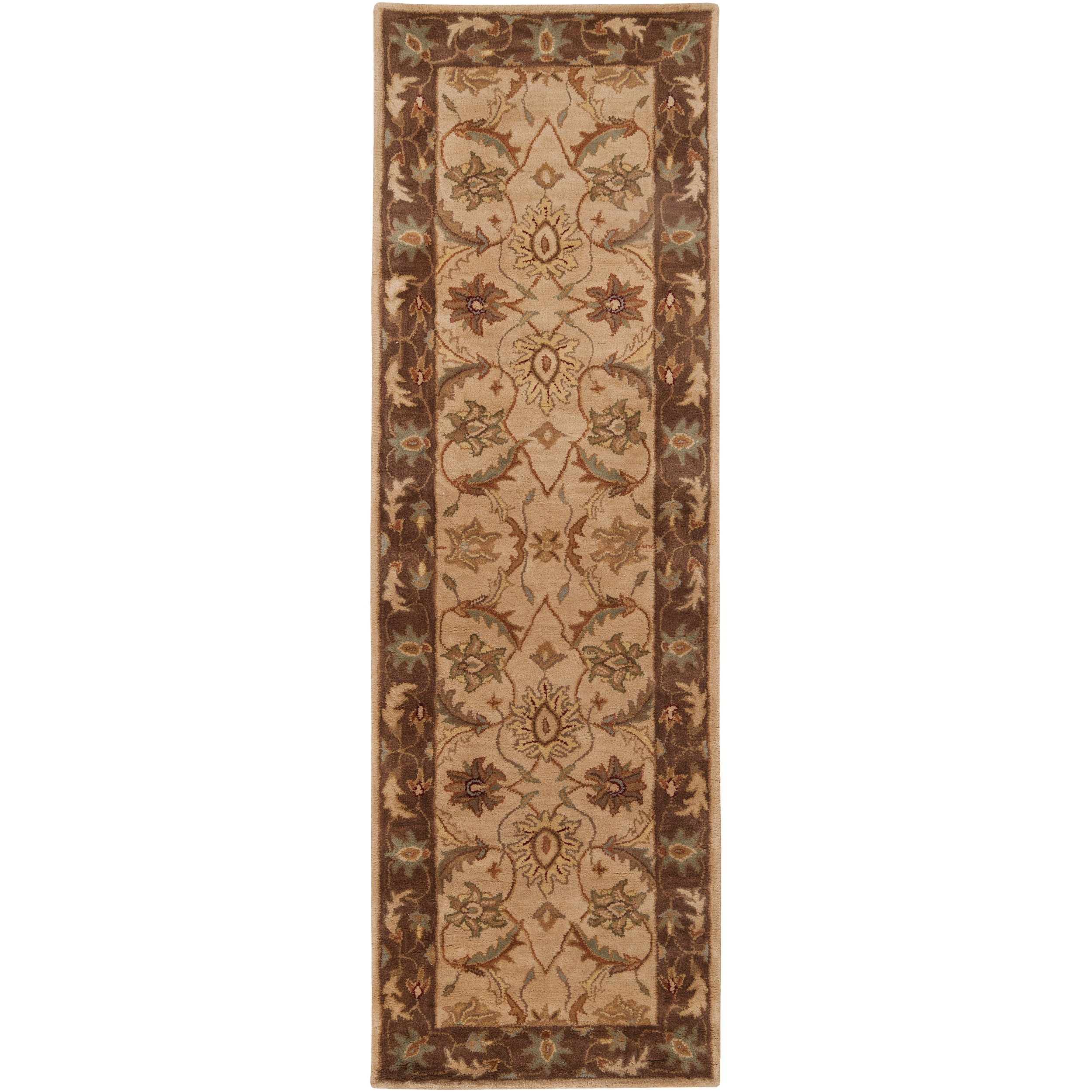 Hand-tufted Multicolored Clift New Zealand Wool Rug (2'6 x 8')