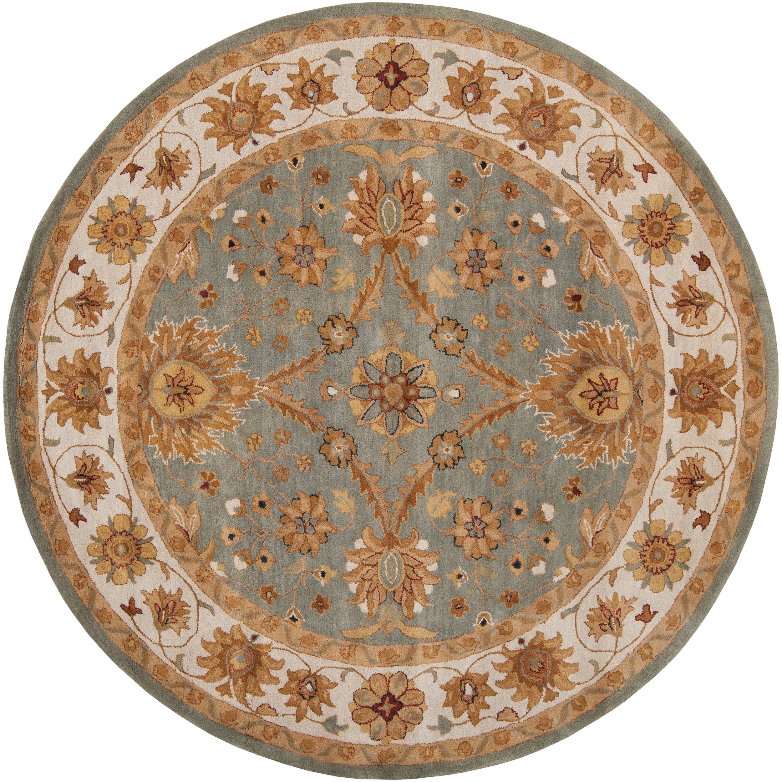Hand-tufted Green Clift New Zealand Wool Rug (8' Round)