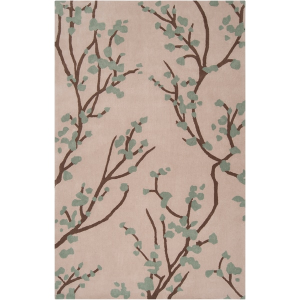 Hand-tufted Green Hudson Park Polyester Rug (3'3 x 5'3)