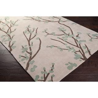 Hand-tufted Green Hudson Park Polyester Rug (8' x 10')