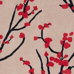Hand-tufted Black Hudson Park Polyester Rug (8' x 10') - Thumbnail 2