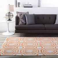"Hand-tufted Orange Hudson Park Area Rug - 3'3"" x 5'3"""