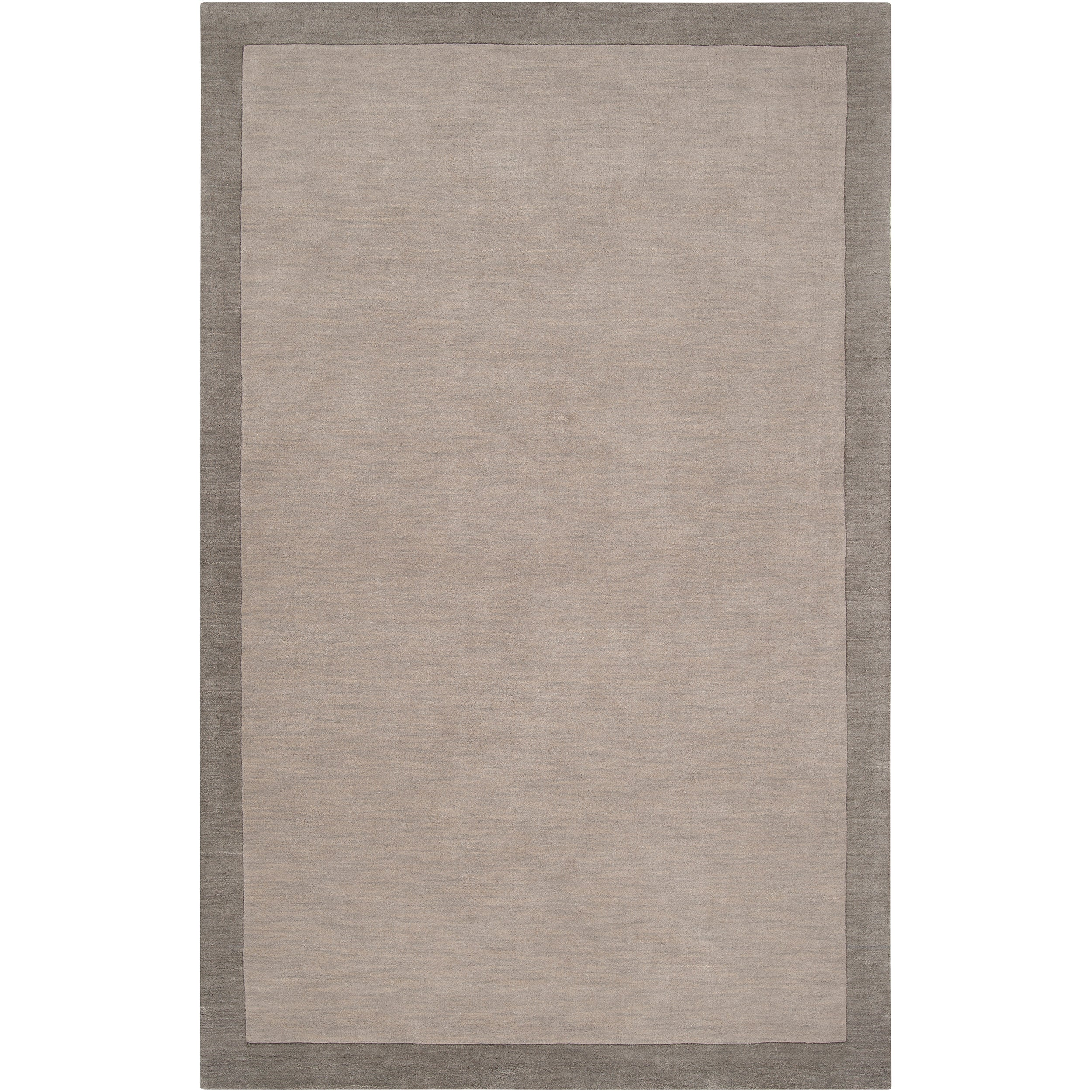 Loomed Gray Madison Square Wool Rug (5' x 7'6)