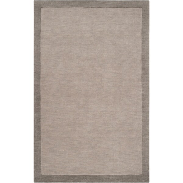 Loomed Gray Madison Square Wool Area Rug - 5' x 7'6""