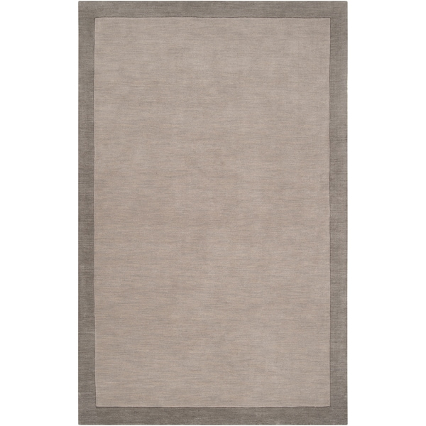 Madison Square Grey Wool Area Rug - 8' x 10'