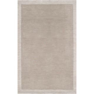 Loomed Gray Madison Square Wool Rug (2' x 3')