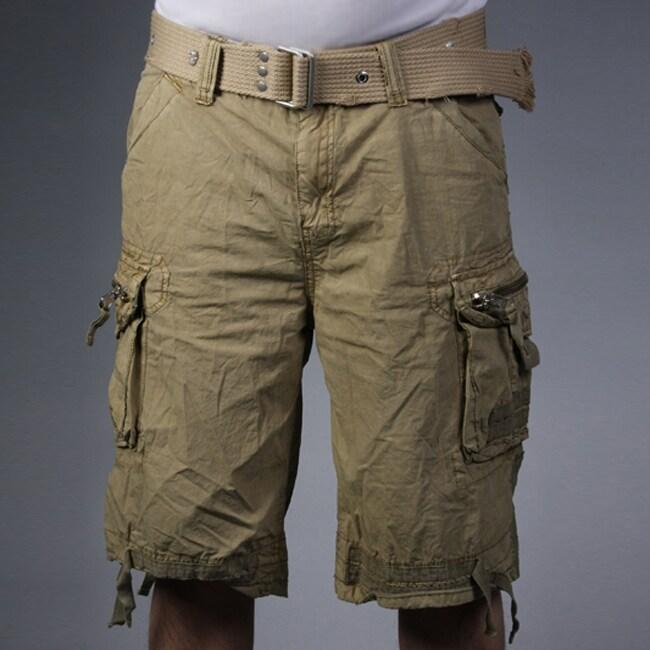 Laguna Beach Jean Company Men's Hermosa Beach Khaki Belted Cargo Shorts