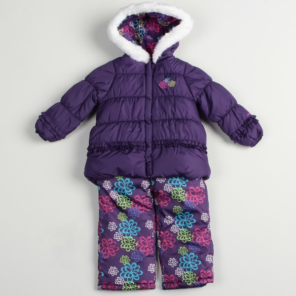 London Fog Girl's Purple Snowsuit
