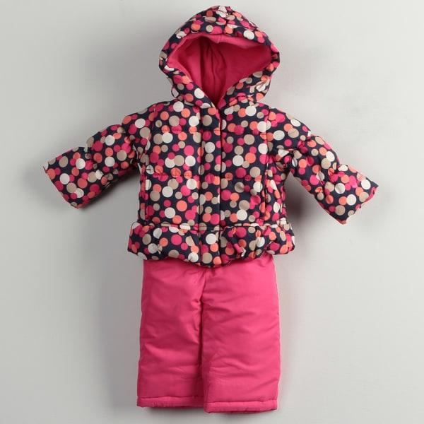 Osh Kosh Infant Girl's Polka Dots Snowsuit FINAL SALE