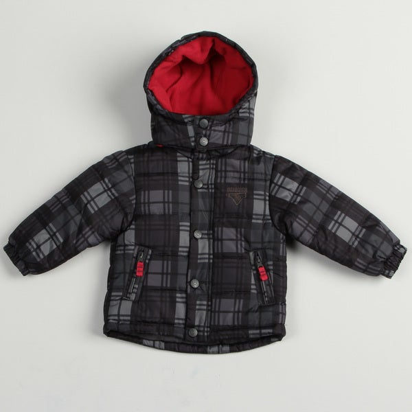 Osh Kosh Toddler Boy's Grey Bubble Jacket