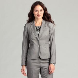 Calvin Klein Women's Silver Two-button Jacket