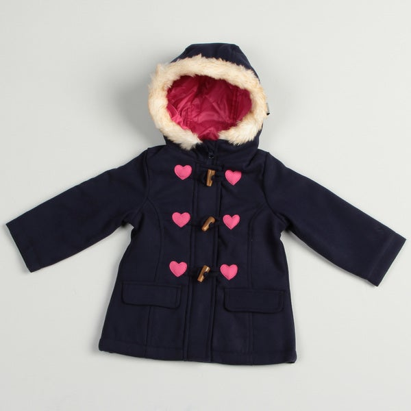 Osh Kosh Toddler Girl's Navy Peacoat