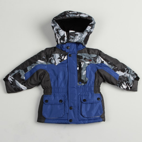 Osh Kosh Toddler Boy's Blue Colorblock Parka