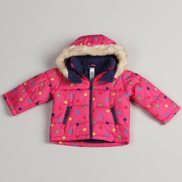 Carters Toddler Girl's Pink Bubble Coat