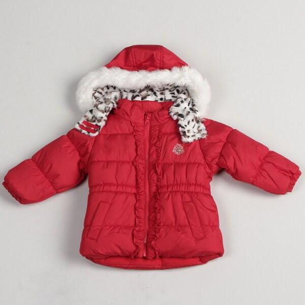 London Fog Toddler Girls' Leopard Hood Jacket
