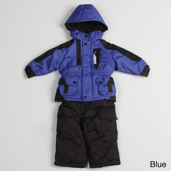 5707c1537350 Shop London Fog Toddler Boy s Colorblock Snow Suit - Free Shipping ...