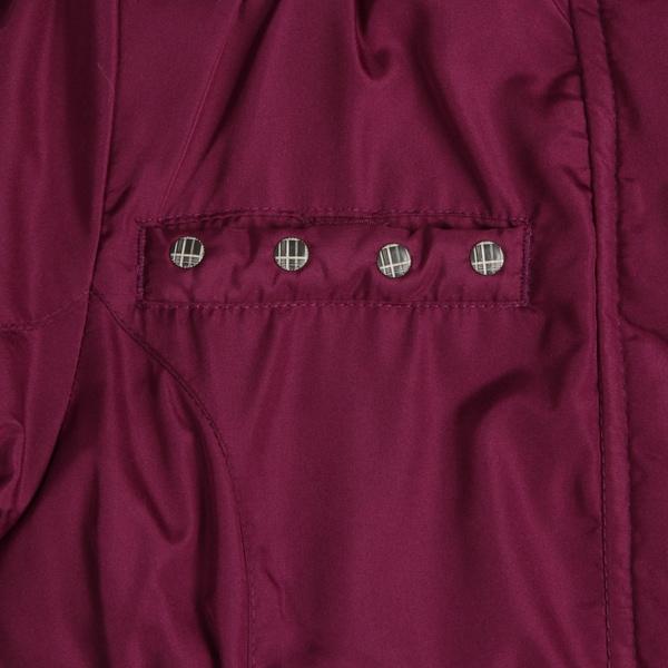 London Fog Little Girls Jacket with Animal Print Fur Trim