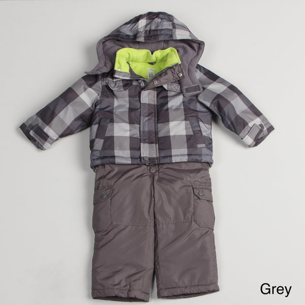 Carters Boy's Plaid Snowsuit