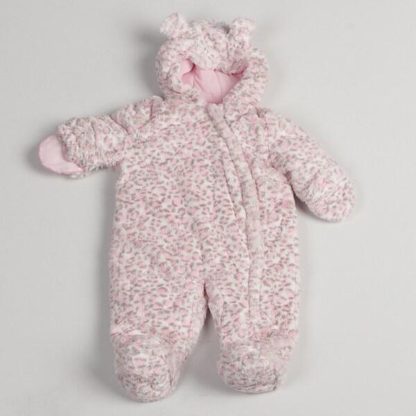 Carters Newborn Girl Leopard Print Pram