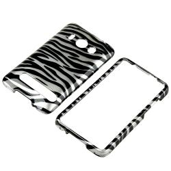 BasAcc Silver/ Black Zebra Snap-on Rubber Coated Case for HTC EVO 4G - Thumbnail 1
