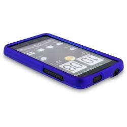 INSTEN Blue Snap-on Rubber Coated Phone Case Cover for HTC EVO 4G - Thumbnail 2
