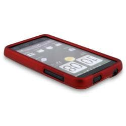 BasAcc Red Snap-on Rubber Coated Case for HTC EVO 4G - Thumbnail 2