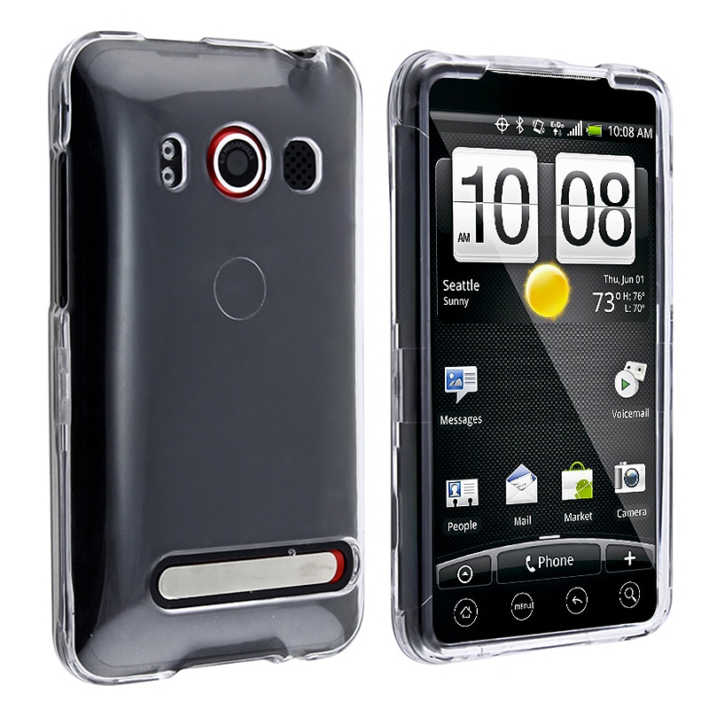 BasAcc Clear Snap-on Crystal Case for HTC EVO 4G