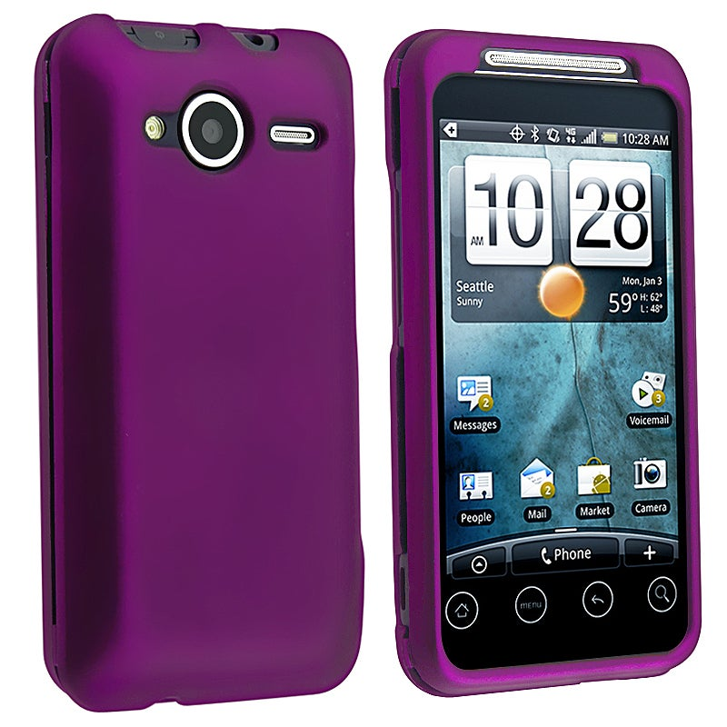 BasAcc Dark Purple Snap-on Rubber Coated Case for HTC EVO Shift 4G