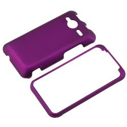 BasAcc Dark Purple Snap-on Rubber Coated Case for HTC EVO Shift 4G - Thumbnail 1