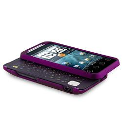 BasAcc Dark Purple Snap-on Rubber Coated Case for HTC EVO Shift 4G - Thumbnail 2