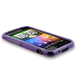 BasAcc Frost Purple S Shape TPU Rubber Case for HTC Droid Incredible 2 - Thumbnail 2