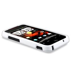 BasAcc White Rubber Coated Case for HTC Droid Incredible