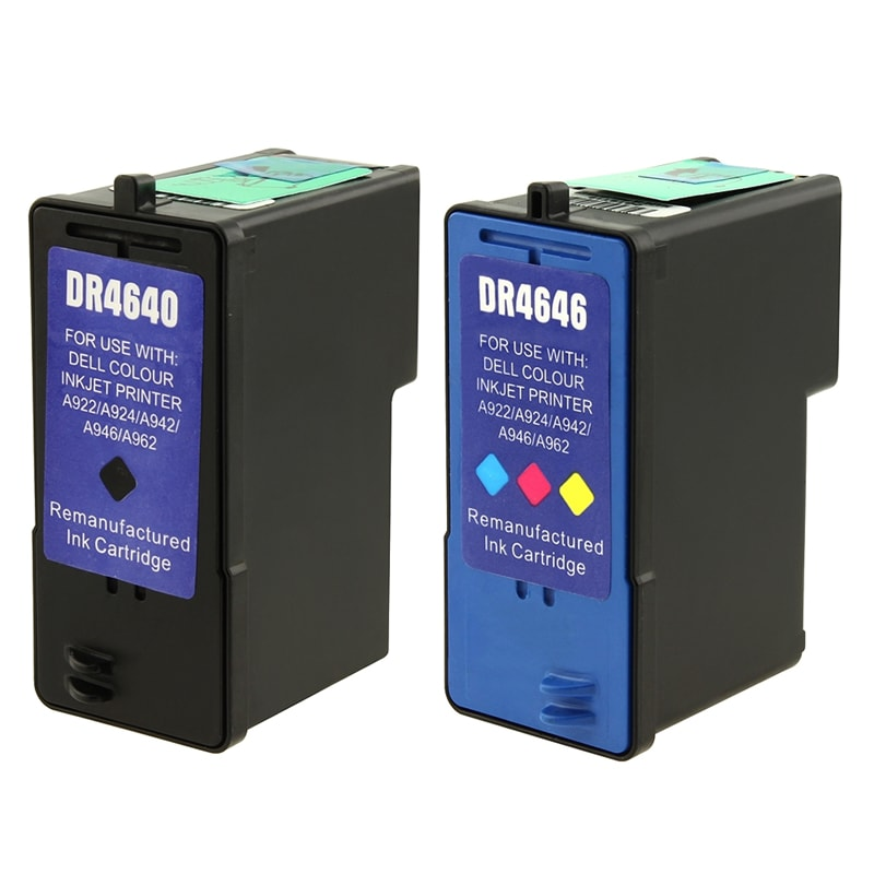 Dell 5/ M4640/ M4646 Black/ Color Ink Cartridge (Remanufactured) (Pack of 2)